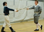 Vito Messucci and Ramon Batista fencing